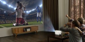 video projecteur soiree foot